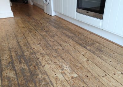 pine plank floor in Ventnor for restoration